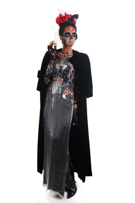 Alyce Designs, Gossamer Gang, LLC 2016 (SHFM005), Día de Muertos 16, Model: Joy Suzanne Grazer, full