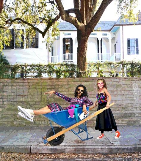 "Lilli Diamond, Nikki, Gossamer Gang, LLC 2017 (SHBA008,PRCT008). ""POSSESSED by Mardi Gras 2017 - Homeward Bound!"" Model(s): Poppy Burgeon & Joy Suzanne Grazer; Shoes: Chuck Taylor"