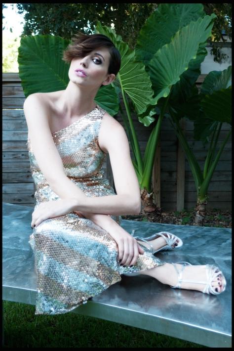 Lilli Rubin, Gossamer Gang, LLC 2017 (BAFM002); Model: Jheskia Menes, Shoes: Gucci
